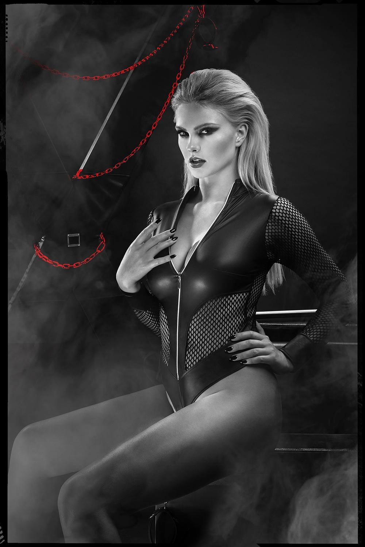 Body negru plasă Demoniq DDHera001 1